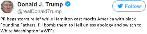 Trump tweet PR